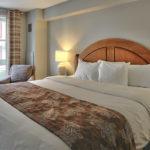 MLK Ski Weekend 2 Bedroom Village Suite Queen Bedroom