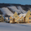 MLK Ski Weekend Blue Mountain mountainside view Rivergrass villa