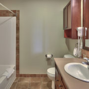 MLK Ski Weekend Rivergrass 2 bedroom villa bathroom