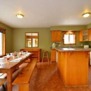MLK Ski Weekend Black Ski Weekend 10 bedroom executive chalet upper level kitchen dining room