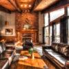 MLK Ski Weekend Black Ski Weekend 8 bedroom chalet living room view 1