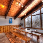 MLK Ski Weekend Black Ski Weekend 8 bedroom chalet upper level dining room