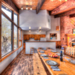 MLK Ski Weekend Black Ski Weekend 8 bedroom chalet upper level dining room kitchen