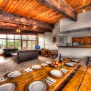 MLK Ski Weekend Black Ski Weekend at Blue Mountain 6 bedroom chalet dining room view
