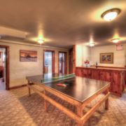 MLK Ski Weekend Black Ski Weekend at Blue Mountain 6 bedroom chalet downstairs rec area ping pong table