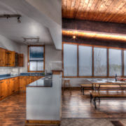 MLK Ski Weekend Black Ski Weekend at Blue Mountain 6 bedroom chalet kitchen dining room view