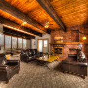 MLK Ski Weekend Black Ski Weekend at Blue Mountain 6 bedroom chalet living room view