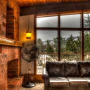 MLK Ski Weekend Black Ski Weekend at Blue Mountain 6 bedroom chalet living room view fan