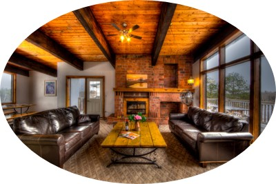 MLK Ski Weekend Black Ski Weekend at Blue Mountain 6 bedroom chalet living room view normal cropped