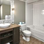MLK Ski Weekend Mosaic 1 bedroom bathroom