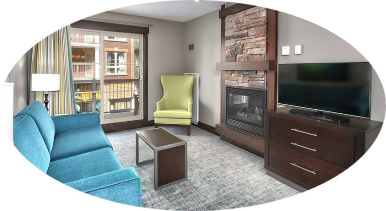 MLK Ski Weekend Mosaic 1 bedroom living room cropped