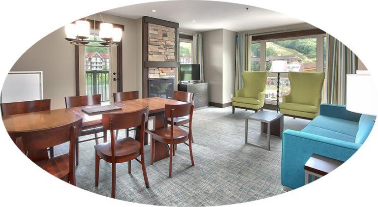 MLK Ski Weekend Mosaic 3 Bedroom suite livingroom view cropped