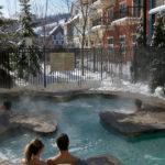 MLK Ski Weekend Mosaic exterior outdoor hot tub steam