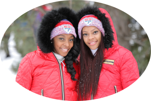 MLK Ski Weekend Official baller winter pom hat worn by the sisters at Blue Mountain in Canada cropped
