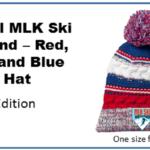 MLK Ski Weekend Official logo apparel winter baller pom hat