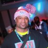 MLK Ski Weekend Official logo apparel winter baller pom hat worn at PJ party indoors and outdoors red whit and blue