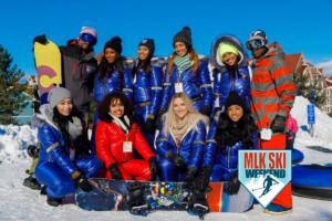 2018 MLK Ski Weekend slopeside fun with the team