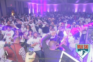 MLK Ski Weekend 2016 Canada Tshirt Party hype crowd image