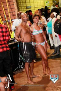 MLK Ski Weekend 2016 guy and girl at indoor outdoor pool party