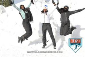 MLK Ski Weekend 2017 Black Ski Weekend leap in snow (1)