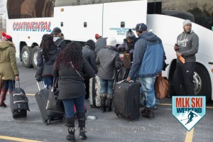 MLK Ski Weekend 2017 Black Ski Weekend loading 20 charter coaches