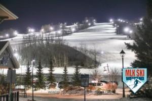 MLK Ski Weekend 2017 Black Ski Weekend night ski at the resort
