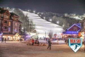 MLK Ski Weekend 2017 Black Ski Weekend night time slope view