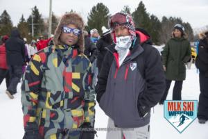MLK Ski Weekend 2017 at Blue Mountain Resort Canada two snowboarders winter ski jacket Quicksilver Gerry fun in the snow goggles sunglasses (1)