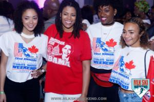 MLK Ski Weekend caribbean carnival theme island of Antigua white t shirts Canada