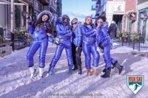 MLK Ski Weekend energetic group of girls with melanin poppin on ski trip