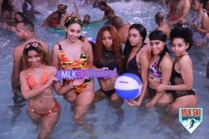 MLK Ski Weekend pool party with brand ambassador team in the water