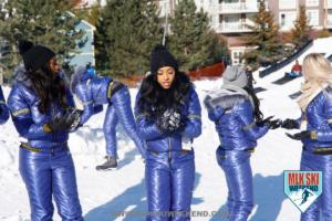 MLK Ski Weekend snowballs and sledding with brand ambassadors at ski resort