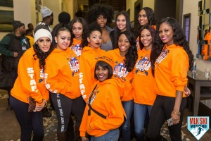 MLK Ski Weekend 2017 Black Ski Weekend event staff brand ambassadors orange