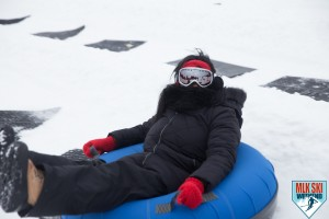 MLK Ski Weekend 2017 Black Ski Weekend Tubing fun goggles red glove