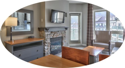 MLK Ski Weekend 1 Bedroom with Den Suite Living Room view cropped