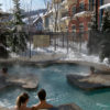 MLK Ski Weekend Mosaic exterior outdoor hot tub steam