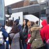 MLK Ski Weekend bus loading