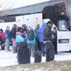 MLK Ski Weekend Black Ski Weekend charter coach party bus loading
