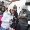 MLK Ski Weekend Black Ski Weekend charter coach party participant loading and check-in