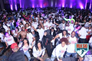 MLK Ski Weekend 2016 Canada Glow in Dark Tshirt Party Crowd Shot 1