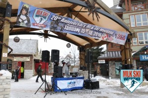 MLK Ski Weekend 2016 DJ Setup for Village day party