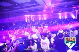 MLK Ski Weekend 2016 Glow in the Dark Tshirt Party crowd shot