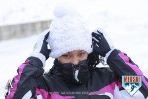 MLK Ski Weekend 2016 girl in a white snow cap