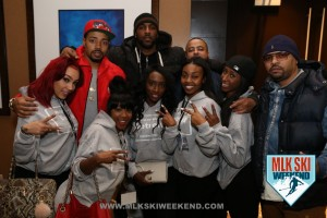 MLK Ski Weekend 2016 groug photo of ladies and men at networking event