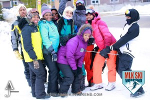 MLK Ski Weekend 2016 group action photo