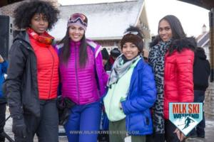 MLK Ski Weekend 2017 Ambassadors winter posing Black Ski Weekend (2)
