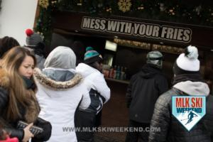 MLK Ski Weekend 2017 Black Ski Weekend Poutiine in Canada in the resort village (1)