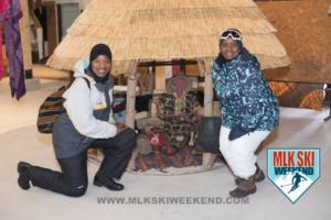 MLK Ski Weekend 2017 Black Ski Weekend Sheffield Park Museum posing at display (1)