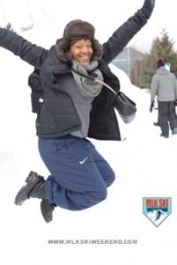 MLK Ski Weekend 2017 Black Ski Weekend jump for love
