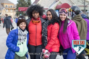 MLK Ski Weekend 2017 Black Ski Weekend pretty girls in the snow at ski resort